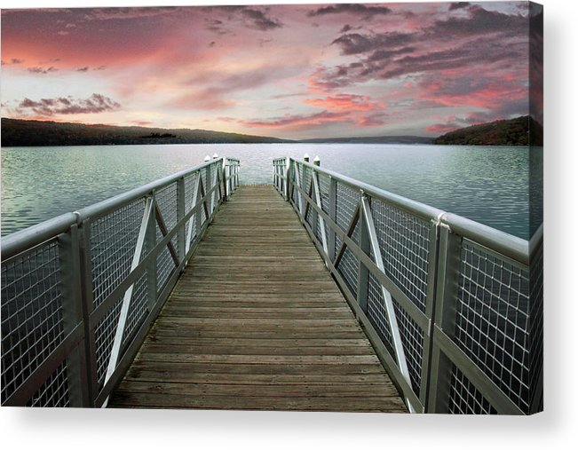 Sunset Acrylic Print featuring the photograph Sunset At Stewart Park by Jessica Jenney