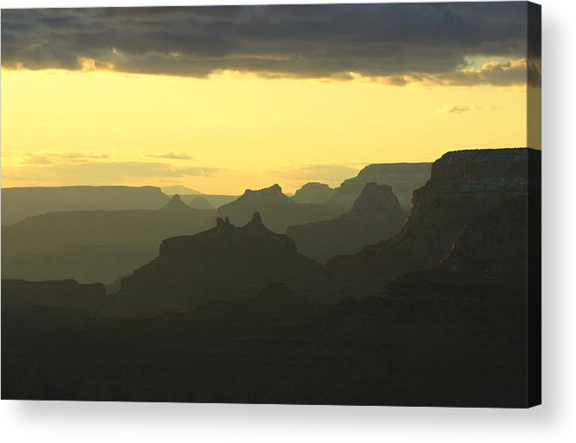 Grand Canyon National Park Acrylic Print featuring the photograph Sunset From The Eastern Rim by Brian M Lumley