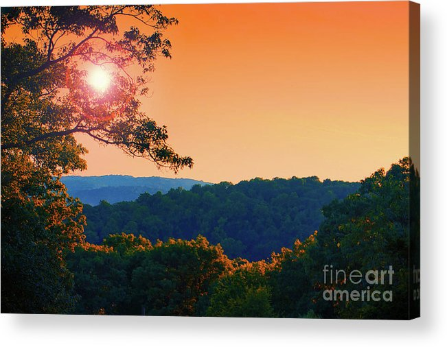 Landscape Acrylic Print featuring the photograph Sunset Hills by Mark Miller