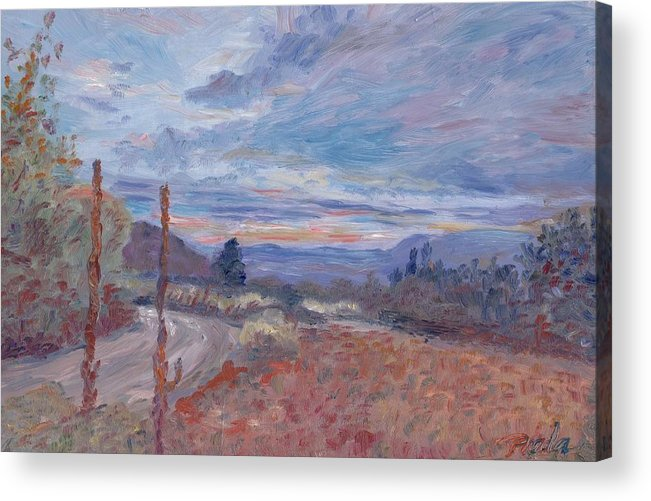Oil Acrylic Print featuring the painting Sunset by Horacio Prada