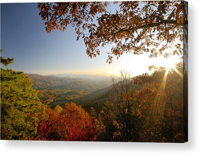 Sunset Acrylic Print featuring the photograph Sunset In Great Smoky Mountains by Darrell Young