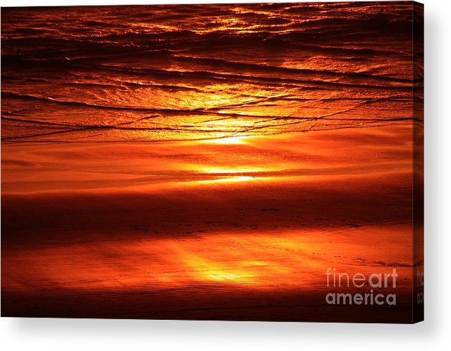 Sunset Acrylic Print featuring the photograph Sunset In The Sand by Erica Hanel