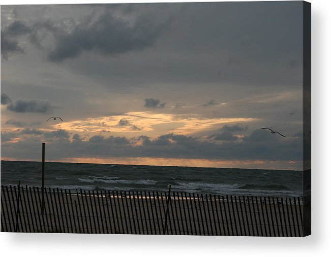 Sunset Acrylic Print featuring the photograph Sunset On Lake by Sara Summers