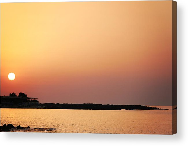Acrylic Print featuring the photograph Sunset On The Beach by Sylvia Coomes