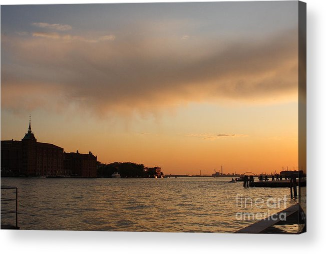 Venice Acrylic Print featuring the photograph Sunset On The Edge Of Venice by Michael Henderson