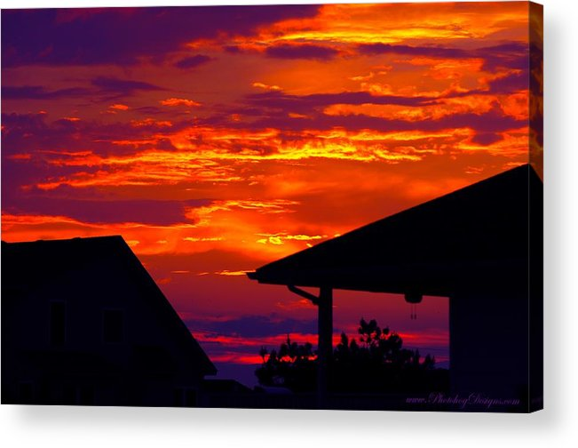 Sunset Acrylic Print featuring the photograph Sunset Va 4736 by PhotohogDesigns