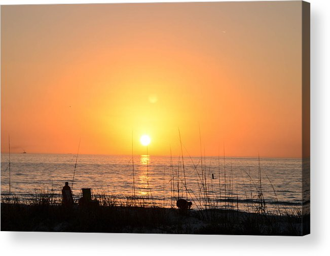Beach Acrylic Print featuring the photograph Sunsets by Amanda Liner