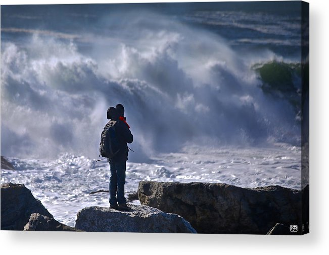 Surf Acrylic Print featuring the photograph Surf Watcher by John Meader