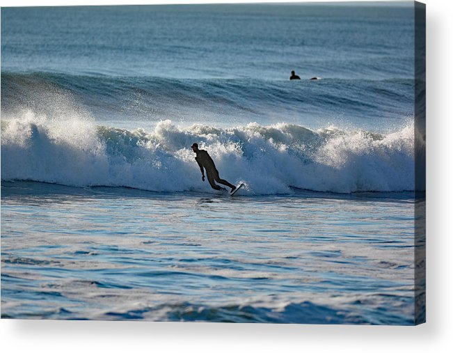Surfing Acrylic Print featuring the photograph Surfing At Hampton Nh by Jo-Ann Matthews