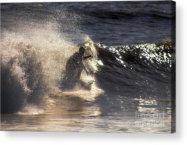 Clay Acrylic Print featuring the photograph Surfs Up In Socal by Clayton Bruster