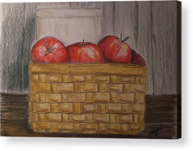 Apples Acrylic Print featuring the drawing Sweet Pickens by Jessica Mason