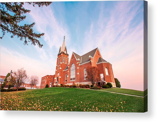 Swiss United Church Of Christ Acrylic Print featuring the photograph Swiss Church by Todd Klassy