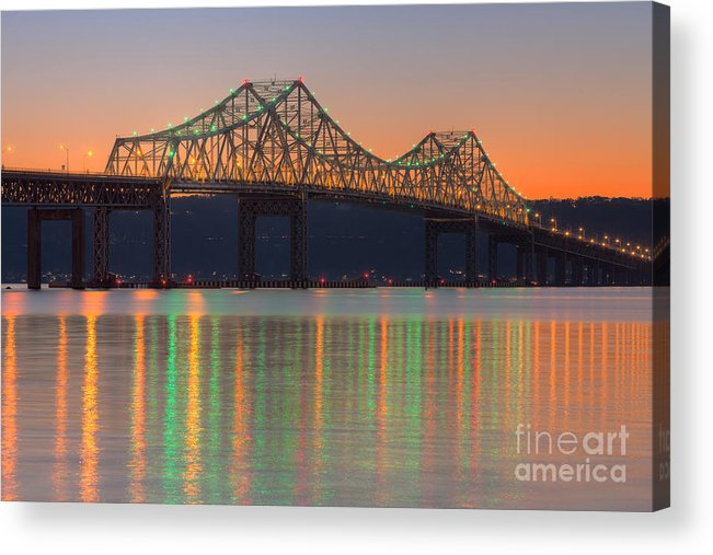 Clarence Holmes Acrylic Print featuring the photograph Tappan Zee Bridge After Sunset I by Clarence Holmes