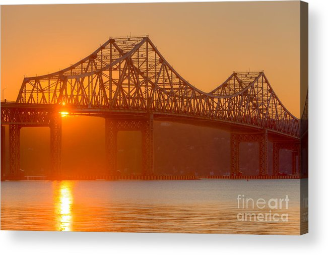Clarence Holmes Acrylic Print featuring the photograph Tappan Zee Bridge At Sunset I by Clarence Holmes