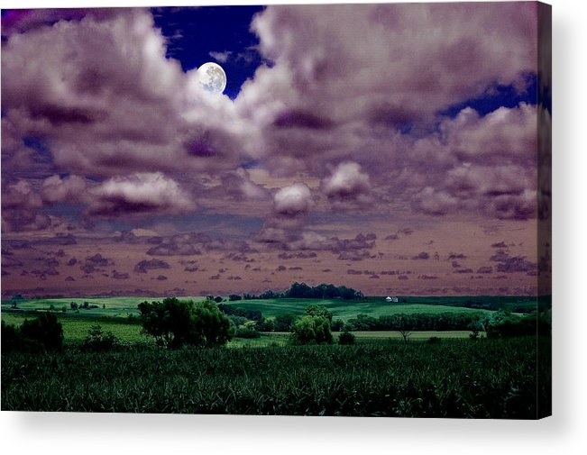 Landscape Acrylic Print featuring the photograph Tarkio Moon by Steve Karol
