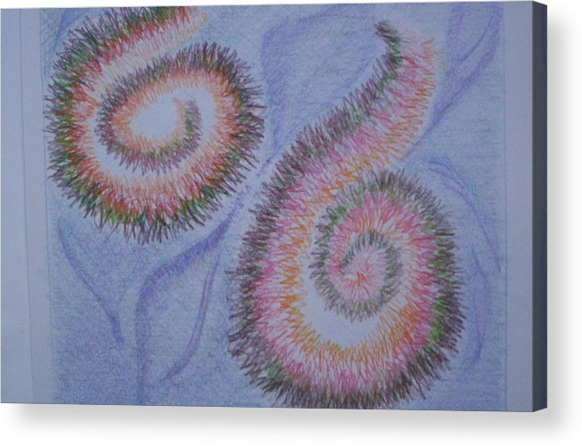 Abstract Acrylic Print featuring the drawing Teach Me by Suzanne Udell Levinger