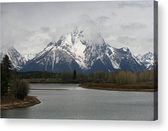 Teton Acrylic Print featuring the photograph Teton Spring by Gregory Jeffries