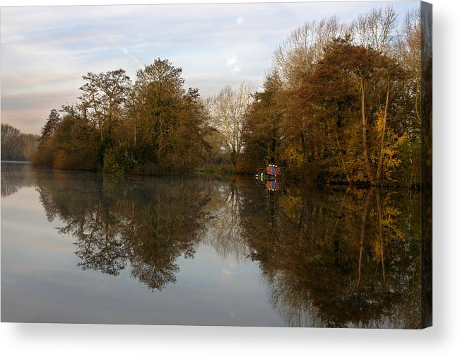 Landscape Acrylic Print featuring the photograph Thames Valley Morning by Ivan Sabo
