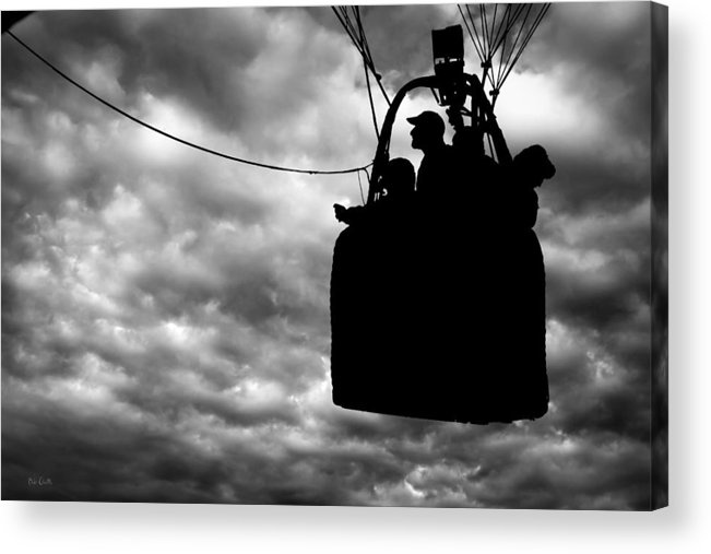 Silhouette Acrylic Print featuring the photograph The Adventure Begins Hot Air Balloon by Bob Orsillo