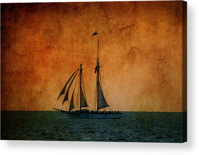 The America Acrylic Print featuring the photograph The America In Key West by Susanne Van Hulst