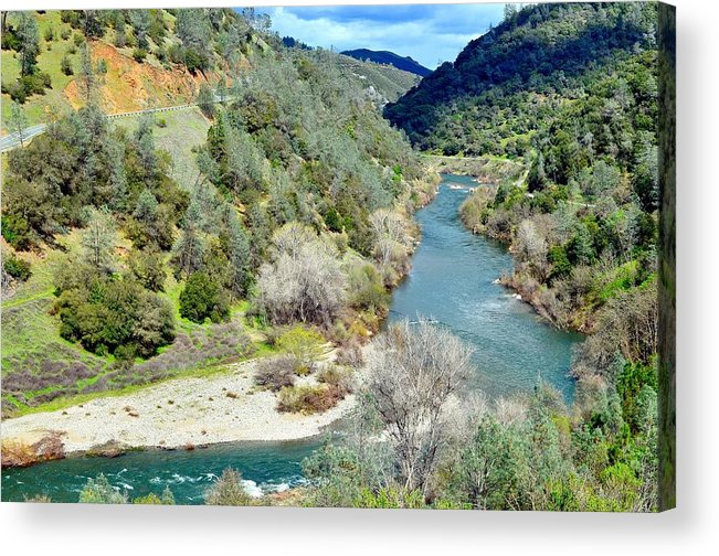 The American River Acrylic Print featuring the photograph The American River by Sagittarius Viking