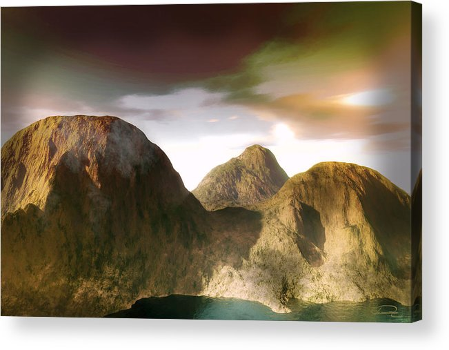Landscape Acrylic Print featuring the painting The Awakening by Emma Alvarez