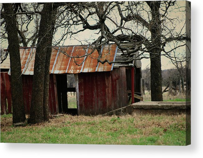 Barn Acrylic Print featuring the photograph The Barn Out Back by Toni Hopper