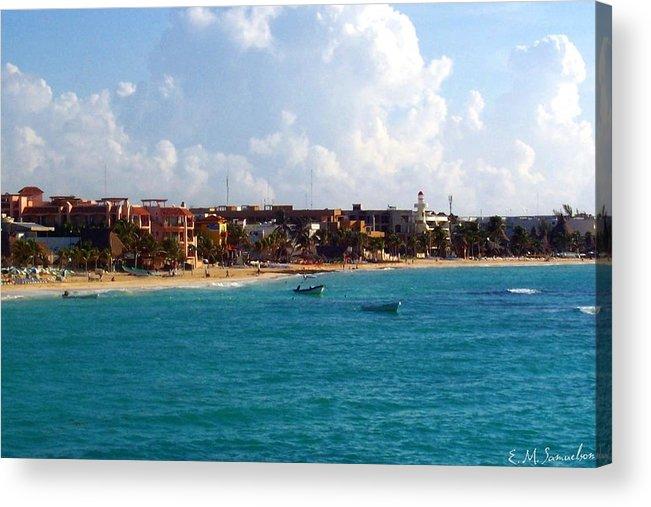 Mexico Acrylic Print featuring the photograph The Beach At Playa Del Carmen by Elise Samuelson