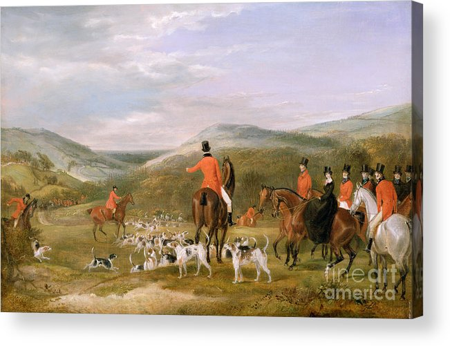 The Acrylic Print featuring the painting The Berkeley Hunt by Francis Calcraft Turner