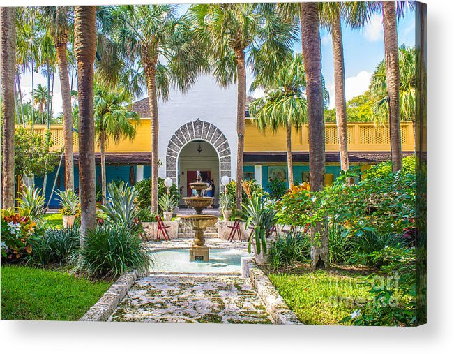 Florida Acrylic Print featuring the photograph The Bonnet House - Interior Garden by Claudia M Photography