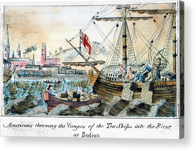 1773 Acrylic Print featuring the photograph The Boston Tea Party, 1773 by Granger