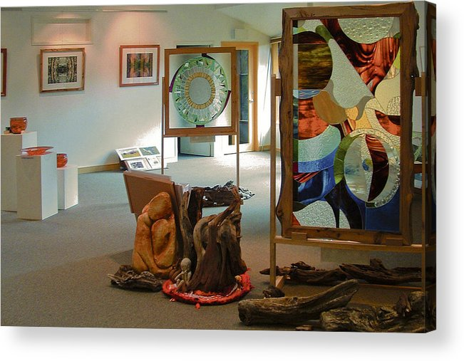 Gallery Acrylic Print featuring the mixed media The Cradle Mountain Information Center Gallery by Sarah King