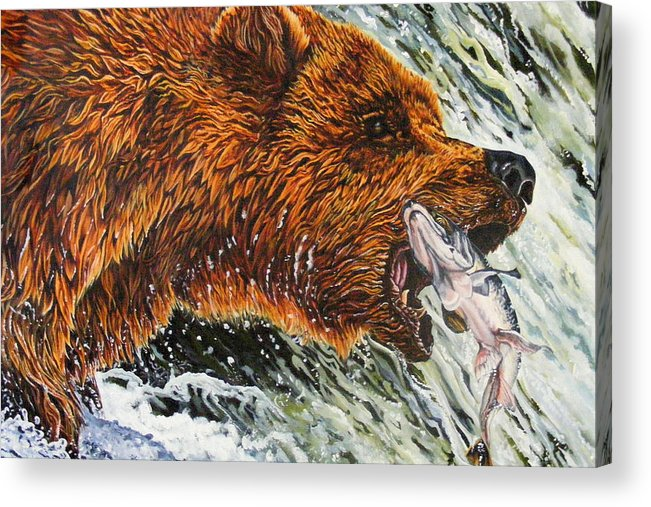 Bear Acrylic Print featuring the painting The Cycle by Donald Dean