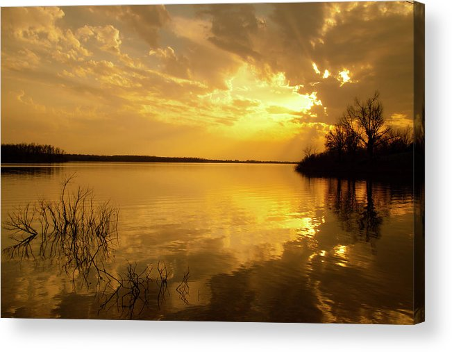 Artwork Acrylic Print featuring the photograph The Day Is Done by Ron McGinnis