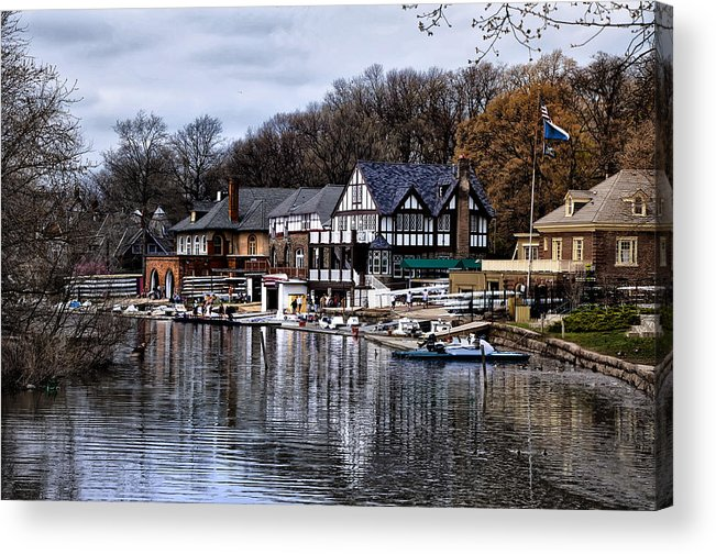 Docks Acrylic Print featuring the photograph The Docks At Boathouse Row - Philadelphia by Bill Cannon