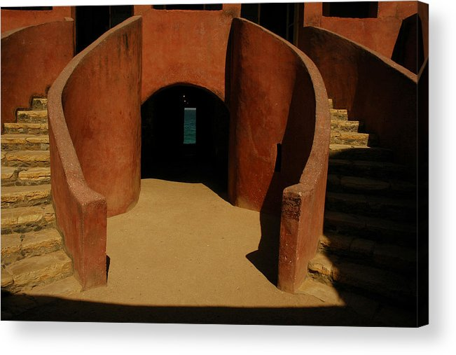 Africa Acrylic Print featuring the photograph The Door Of No Return On Goree Island by Bobby Model