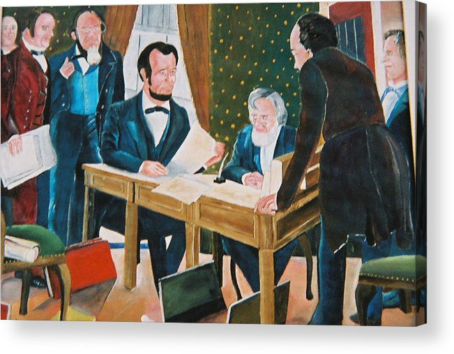 Historical Acrylic Print featuring the painting The Emancipation by Desenclos Patrick