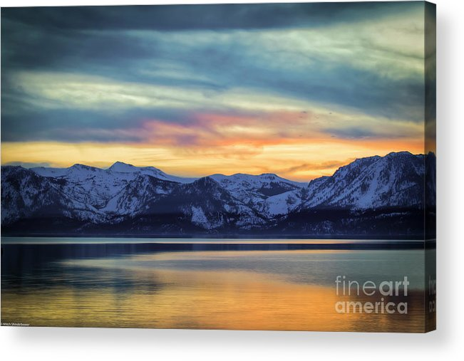 The Evening Colors Acrylic Print featuring the photograph The Evening Colors by Mitch Shindelbower