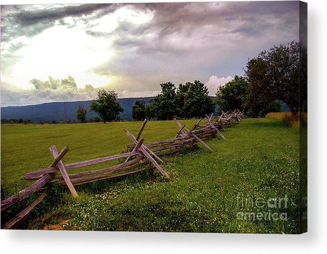 Landscape Acrylic Print featuring the photograph The Field Of Lost Shoes by Broken Soldier