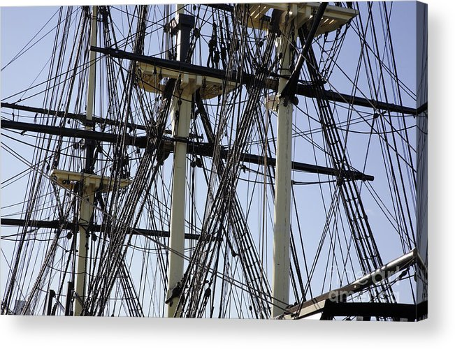 Salem Acrylic Print featuring the photograph The Friendship Of Salem Tall Ship In Salem Massachusetts Usa by Erin Paul Donovan