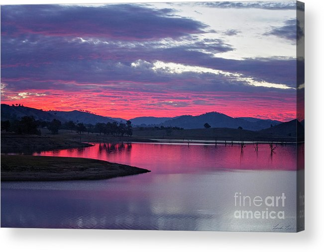 Sunset Acrylic Print featuring the photograph The Gloaming by Linda Lees
