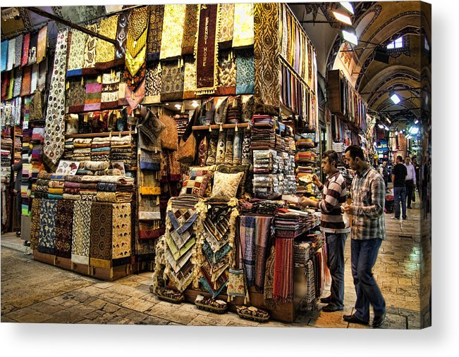 Turkey Acrylic Print featuring the photograph The Grand Bazaar In Istanbul Turkey by David Smith