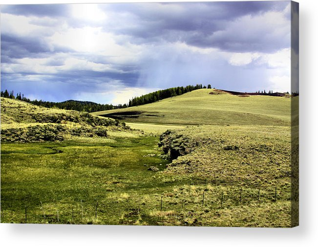 Photography Acrylic Print featuring the photograph The Green White Mountains 1825 by Sharon Broucek