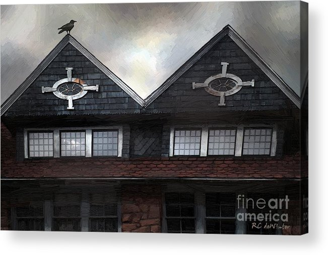 Clouds Acrylic Print featuring the painting The Harbinger by RC DeWinter