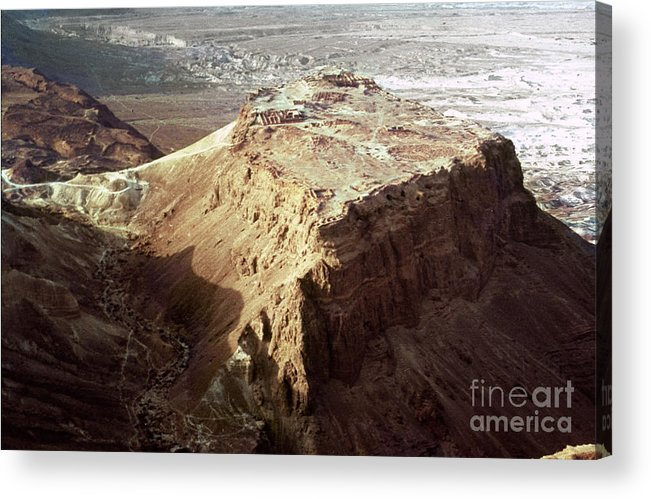 20th Century Acrylic Print featuring the photograph The Holy Land: Masada by Granger