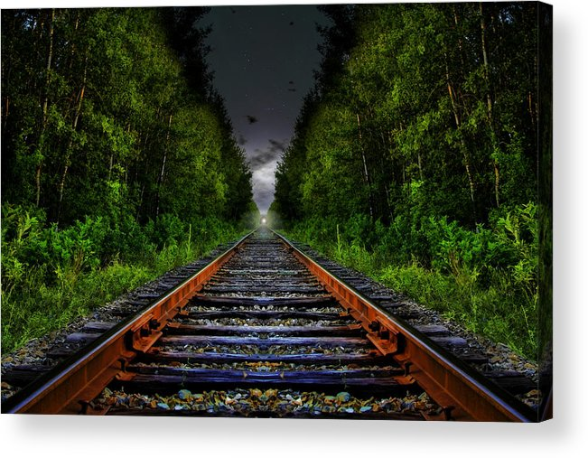 Tracks Acrylic Print featuring the photograph The Last Train Ride by Gary Smith