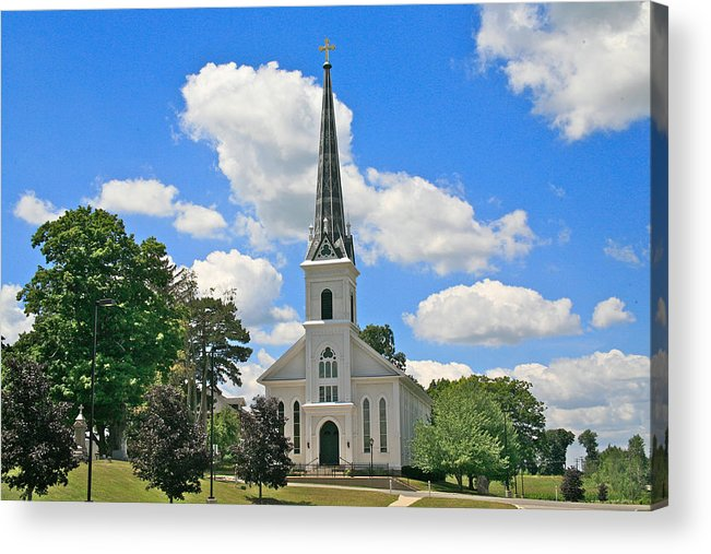 Usa Acrylic Print featuring the photograph The Little Country Church by Robert Pearson