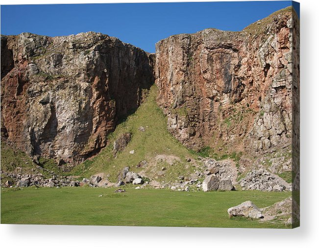 Cliffs Acrylic Print featuring the photograph The Little Orme by Christopher Rowlands