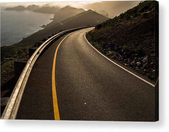 Marin Acrylic Print featuring the photograph The Long And Winding Road by John Daly