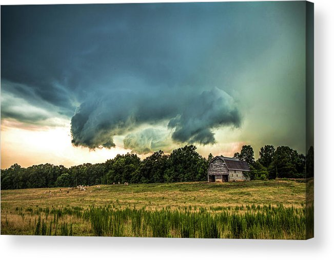 Storm Acrylic Print featuring the photograph The Lowering by Dan Whittaker